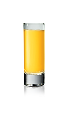 The Sticki Passion shot is made from Stoli Sticki honey vodka and passion fruit juice, and served in a chilled shot glass.