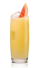 The Sticki Squirt drink is made from Stoli Sticki honey vodka and grapefruit juice, and served with ice in a highball glass.