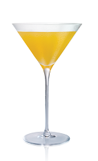 The Sticki Tiger cocktail is made from Stoli Sticki honey vodka, kumquats and agave syrup, and served in a chilled cocktail glass.