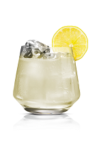 The Stickiberry drink is made from Stoli Sticki honey vodka, white cranberry juice and club soda, and served in an old-fashioned glass.
