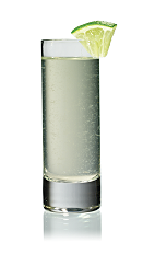 The Strasberi Fabulous Shot is made from Stoli Strasberi strawberry vodka, ginger ale and lime juice, and served in a chilled shot glass.