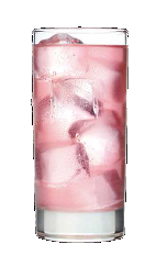 The Summer Kooler is a pink colored summer drink recipe made from Three Olives Rangtang orange vodka, raspberry vodka, pineapple juice and cranberry juice, and served over ice in a highball glass.