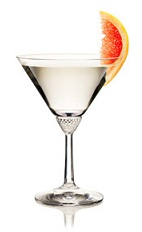 The Summer Martini is a gin variation of the classic Martini cocktail. A clear colored cocktail made from gin, dry vermouth and grapefruit, and served in a chilled cocktail glass.