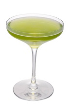 The Tea Zhen is a relaxing cocktail made from the fresh flavors of melon and green tea, and served in a chilled cocktail glass. Made from green tea infused vodka (add green tea to vodka and let it rest for a few days), white wine, Midori liqueur, sherry, green tea liqueur and jasmine syrup, and served in a chilled cocktail glass.