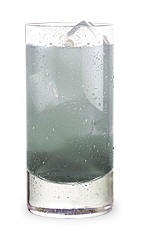 The Grappler is made from Grape Pucker, Sour Apple Pucker and club soda, and served over ice in a highball glass.