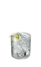 The Selector is a clear drink made from Smirnoff citrus vodka, club soda, lemon and lime, and served over ice in a rocks glass.