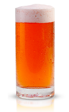 The Skyrocket is a beer-based drink made from New Amsterdam gin, bitters and pilsner beer, and served in a chilled beer glass.