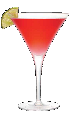 The Three Olives Cherry Cosmo is an exciting English variation of the classic Cosmopolitan drink recipe. Made from Three Olives cherry vodka, triple sec, cranberry juice and lime juice, and served in a chilled cocktail glass.