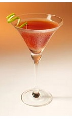 The Tini Bikini Martini cocktail recipe may be just the one to help the wearer of the bikini become separated from said bikini. A red colored cocktail made from Clamato tomato cocktail, watermelon vodka, vanilla liqueur and lime, and served in a chilled cocktail glass.