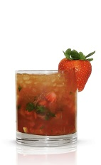 The Kentucky Derby is the start of the Triple Crown races, held on the first Saturday of May. The Triple Crown Julep pays tribute to such a historic event. Made from Basil Hayden's bourbon, strawberries, mint, lemon, water and brown sugar, and served over ice in a highball glass.
