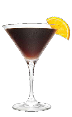 The Triple Decadence is a brown colored dessert cocktail recipe made from Three Olives Triple Shot Espresso vodka, dark chocolate liqueur and Cointreau orange liqueur, and served in a chilled cocktail glass.