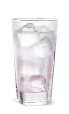 The Tropical Grape is a purple drink made from Pucker grape schnapps, coconut schnapps and club soda, and served over ice in a highball glass.