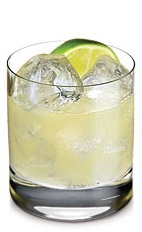 The Tropical Heat is a spicy cocktail made from Ketel One Citroen vodka, lime juice, simple syrup, pineapple juice, Green Tabasco sauce and tonic water, and served over ice in a rocks glass.