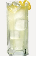 The Tropical Whipt drink recipe is made from Burnett's whipped cream vodka, coconut rum and pineapple juice, and served over ice in a highball glass.