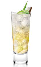 The Tropix Sun is a tropical cocktail recipe made from Tropix liqueur and lemon-lime soda, and served over ice in a Collins glass.