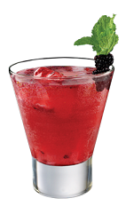 The Tuaca Berry Fizz is a classy red cocktail made from Tuaca vanilla citrus liqueur, gin, lemon juice, simple syrup, blackberries, mint and club soda, and served over ice in a rocks glass.