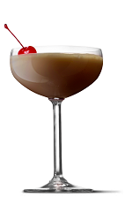 The Sundae cocktail recipe is a brown colored dessert drink made from UV Whipped vodka, chocolate cake vodka, cream and grenadine, and served shaken in a chilled cocktail glass.