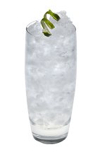 The Vanilla Twist drink is made from Smirnoff Vanilla vodka, lime juice and club soda, and served over ice in a highball glass.