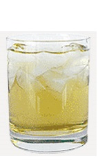The Vanilla Apple Juice drink recipe is made from Burnett's vanilla vodka and apple juice, and served over ice in a rocks glass.