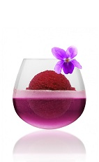 The Violet Sorbet with Champagne is a purple dessert drink perfectly suited to a hot summer evening. Made from violet liqueur, sorbet and champagne, and served in any large glass.