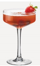 The Gin Fraise is an red colored cocktail recipe made from Burnett's gin, cherry brandy, grenadine, sweet & sour mix and lemon-lime soda, and served in a chilled cocktail glass.