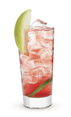 The VooDoo Hurricane is a red colored tropical drink made from Cruzan 151 proof rum, vanilla liqueur, grenadine and club soda, and served over ice in a highball glass.