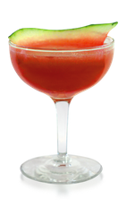 The Watermelon Daiquiri is one of our favorite cocktails to make during watermelon season. A red colored drink made from Don Q white rum, watermelon, agave nectar and lime juice, and served in a chilled cocktail glass.