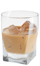 The White Night Over Seattle drink recipe is made from Kamora coffee liqueur, white crème de cacao and half-and-half, and served over ice in a rocks glass.
