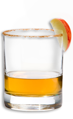 The Wild Apple Pie is an American classic in a glass. Made from Wild Turkey American Honey, brown sugar and red apple, and served in a rocks glass.