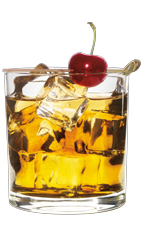 The Wild Southern Manhattan is a unique cocktail made from Wild Turkey, Southern Comfort, sweet vermouth and bitters, and served over ice in a rocks glass.