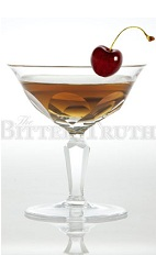 The William Cocktail is a prohibition-era cocktail made from bourbon, sweet vermouth, chilled champagne and bitters, and served with a cherry in a chilled cocktail glass.