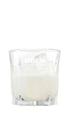 The Yoghurt on the Short is a refreshing cream colored drink made from Bols Natural Yoghurt liqueur, and served over ice in a rocks glass.