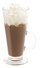 The Holiday Cheer is a warm and fuzzy drink recipe for a Christmas or holiday party. Made from Burnett's candy cane vodka, hot chocolate and whipped cream, and served in a toddy or other tall glass.