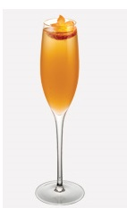 The Champagne Celebration is a bubbly cocktail recipe perfect as a wedding drink or for New Year's eve. Made from Burnett's pear vodka, ginger liqueur, orange juice and chilled champagne, and served in a chilled champagne flute.