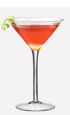 The Pear n Fruit cocktail recipe is made from Burnett's pear vodka, orange juice, lemon juice and grenadine, and served in a chilled cocktail glass.