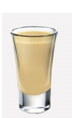 Serve this shot at your next Christmas party to the delight of your guests. A cream colored drink recipe made from Burnett's sugar cookie vodka, Bailey's Irish cream and butterscotch schnapps, and served in a shot glass.