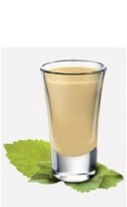The Mint Chocolate Cookie is a cream colored shot recipe served alone or with your favorite dessert. Made from Burnett's sugar cookie vodka, Bailey's Irish cream and peppermint schnapps, and served in a chilled shot glass.