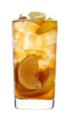 The 42 Buck drink recipe is a variation of the classic Gin Buck drink. Made from 42 Below vodka, ginger ale and lemon, and served over ice in a highball glass.