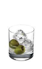 The 57 Martini is a modern variation of the classic martini cocktail. A clear colored drink made from Smirnoff vodka, dry vermouth, bitters and olives, stirred (not shaken), and served in a rocks glass.
