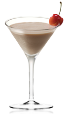 The Amarula-Rula is a brown colored cocktail made from Amarula cream liqueur, fresh cream and cherry liqueur, and served in a chilled cocktail glass.