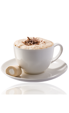 The Amarula Coffee Surprise is a brown colored drink made from Amarula cream liqueur, coffee, whipped cream, brown sugar and hot chocolate powder.