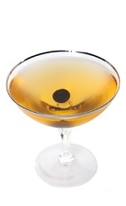 The Angel Face cocktail is a classic drink made from gin, apricot brandy and Calvados, and served in a cocktail glass.