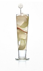 The Apple Smash is a wonderful Thanksgiving cocktail made with the flavors and aromas of the season. A drink made with Caorunn gin, tonic water, red apple, green apple and cloves, and served over ice in a sling or glass.