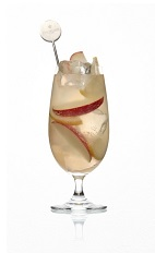The Apple Twist is a smooth cocktail perfect for Thanksgiving, or any day during the Fall. Made form Caorunn gin, pressed apple juice and tonic water, and served over ice in a hurricane glass.