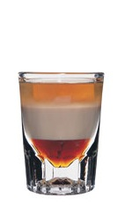 The B-52 is a classic shot made from layering Kahlua coffee liqueur, Bailey's Irish cream and Grand Marnier in a chilled shot glass.