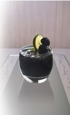 The Black Roska is a fun variation of the classic Black Russian drink. A dark purple drink made from black vodka, Joseph Cartron creme de mure (blackberry liqueur), brown sugar, blackberries and lemon, and served over ice in a rocks glass.