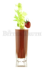 The Bloody Mary is the classic hangover drink, perfect to drink away the night before. A red drink made from vodka, celery bitters, lemon juice, tomato juice, Tabasco sauce, Worcestershire sauce, salt and pepper, and served in a highball glass.