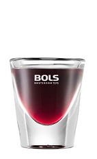 The Blueberry Vincent is a spooky purple shot made from Bols Blueberry liqueur, absinthe and grenadine, and served in a chilled shot glass.