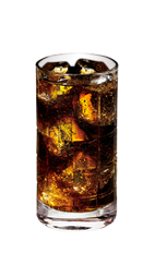 The Cherry Vodka and Coke is a brown drink made from Smirnoff cherry vodka and Coca-Cola, and served over ice in a highball glass.