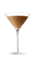 The Chocolate Martini is a brown cocktail made from Smirnoff vanilla vodka, Godiva chocolate liqueur and chocolate, and served in a chilled cocktail glass.